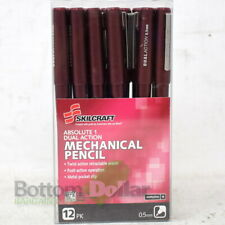 Skilcraft 12-Pack 0.5MM Burgundy Absolute 1 Dual Action Mechanical Pencil