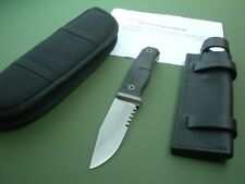 ROB BAYLEY S4 SURVIVAL KNIFE / 2015 / BLACK G10 / ORIGINAL SHEATH / CARRY CASE