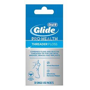 New Oral-B Glide Pro-Health Dental Threader Floss 30 Count