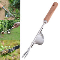 Manual Weeder Fork Wood Handle DiggingPuller Garden Transplanting Digging ToolNT