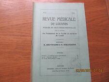 Revue Médicale de Louvain N°6 1932 Le système nerveux gastro-entérique