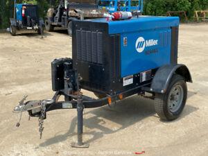 2018 Miller Big Blue 400 Pro Kubota Diesel Towable Welder Generator bidadoo