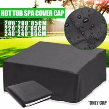 Hot Tub Spa Cover Cap Waterproof  Insulation Protector+ Spring Stoppers Outdoor