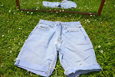 TEDDY's Designer Ladies Vtg 80s Boyfriend Distress Custom Denim Shorts sz L M41