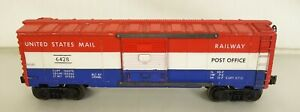 LIONEL #6428 UNITED STATES MAIL RAILWAY POST OFFICE BOX CAR-VG+ ORIG!