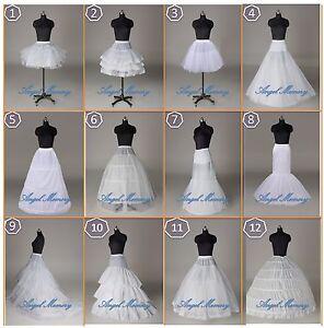 UK STOCK Wedding Dress Bridal A Line/Hoop/Hoopless/Crinoline Petticoat/Slips