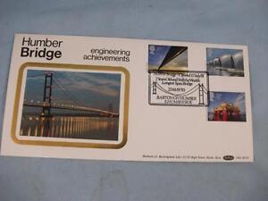 'Humber Bridge Engineering Achievements' Benham F.D.I. Silk GB Stamp Cover, BLS3