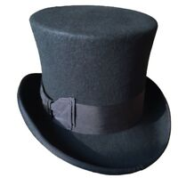 d7ddab846443e Free shipping. Steampunk Top Hat Wool Fedoras Magic High Topper Hat All  Colors 18cm 7