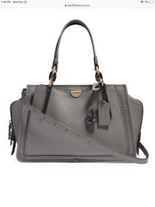 NWT COACH 33094 $495 Dreamer Leather Satchel Crossbody Shoulder Bag, Grey