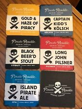 BAHAMAS Pirate Republic Brewing 5 DIFFERENT beer coasters  bier deckel / viltjes