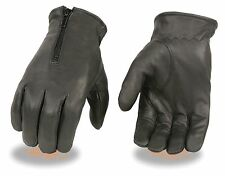 Men's Premium  Unined Leather Driving Glove w/ Zipper top Hand - Super Soft
