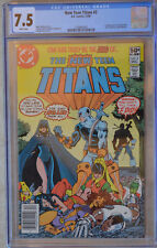 NEW TEEN TITANS #2 (1980) CGC 7.5 VF- WHITE Pages 1st App. Deathstroke NEWSSTAND