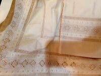 Porthault France New (2) King Shams 100% Cotton Embroidery French