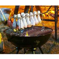 2 Set Stainless Steel Chicken Drumsticks Smoker Rack for Barbecue Chicken Legs