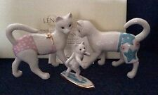 Lenox Kitty's Surfing Lesson Cat Cats Kittens Figurine Sculpture New In Box COA