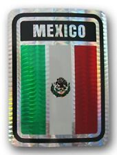 Mexico Country Flag Reflective Decal Bumper Sticker
