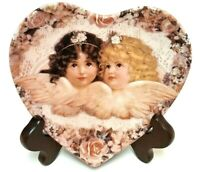 1993 Crestley Collection Sweetness And Grace Heavenly Hearts Wall Decor Plate