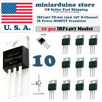 """10pcs IRF1407 IRF 1407 Power MOSFET Transistor TO-220AB """"IR"""" N CHANNEL 75V 130A"""