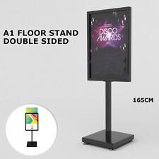 New A1 Double Sided Sign Floor Stand Frame Poster Stand Display Stands BLACK