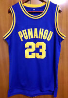 Barack Obama #23 Punahou Men's High school Basketball Jersey Stitched