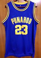Barack Obama #23 Punahou Men's High school Basketball Jersey Stitched