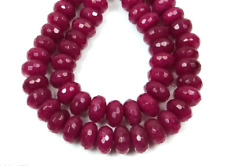 """Natural! 5X8MM Faceted Genuine Red Ruby Abacus Loose Beads 15"""" Strand AAA"""