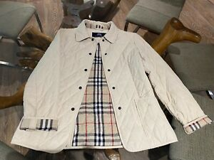 $350 AUTH BURBERRY TEEN SIGNATURE NOVA CHECK PLAID QUILTED JACKET 12 OR WOMEN 0
