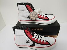 Converse Hi Tops century 08  Vintage Size 4.5 Leather Rare White Red £45