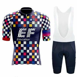 Summer Men Cycling Jersey Bib Short Set Racing Shirts Gel Pants Set Bike Uniform