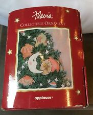Flavia Weedn Christmas Ornament~Joy to the World~Pink/Blue Pastels~Moons