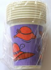 Red Hat Drink Cups / 16 oz Printed Plastic Cups / NIP / Party ~ Novelty