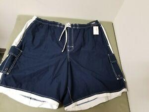 new Roundtree & Yorke Big Mens swimwear drawstring swim shorts.  retail 46.00