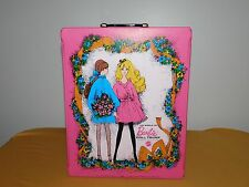 VINTAGE TOY 1968 MATTEL BARBIE DOLL TRUNK  PLASTIC CARRYING CASE