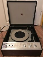 Nice Vintage HMV 2041 Portable Cased Record Player Turntable, Spares Repair