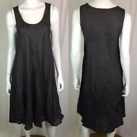 $215 CP Shades Women's XS Charcoal Gray Linen Scoop Tank Trapeze Shirt Dress