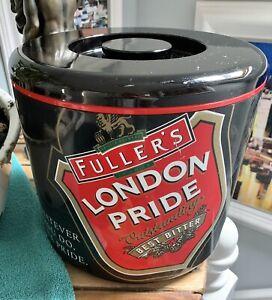 RARE Vintage 8Ltr FULLERS LONDON PRIDE ICE BUCKET & LID BY SUPADRY COLLECTABLE