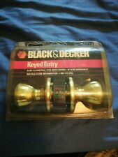 Black & Decker/ Door Knobs & Latch / Keyed Entry for Exterior Doors Made in Usa