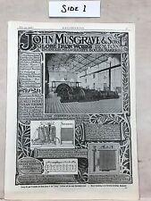 Globe Iron Works Bolton Etc.: Advert: 1908 Engineering Magazine Print