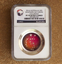 2014 PF70 Ultra Cameo Australian $5 Orion Southern Sky Silver Proof Domed Coin