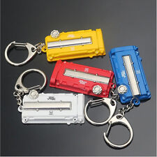 Button Car Modification Key Ring For Honda Vtec TURBO Turbine Engine Cover Key