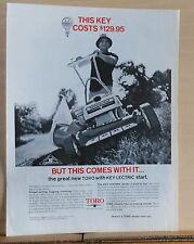 1969 magazine ad for Toro lawn mowers - Key-Lectric start, trouble free mowing