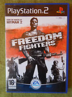 Freedom Fighters (Sony PlayStation 2, 2003, PAL, PS2, Game, Manual)