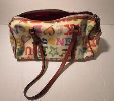 Vintage Dooney & Bourke Handbag Patterned Multicolored