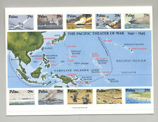 Palau #299 Pearl Harbor, WWII, Maps 1v M/S of 10 Imperf Proof in Folder