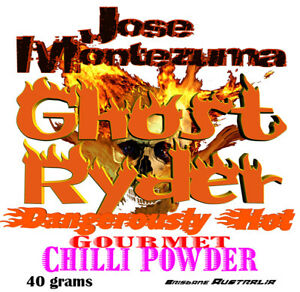 Gourmet Ghost Ryder Chilli Powder with Ghost Peppers 40 gram  Naga Bhut Jolokia
