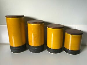 Vintage Baldelli Italy Canister Set Pottery 1960s Mid Century Modern Retro