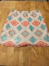 Francescas Collection Birdcage Label Skirt With Sequins Size Medium Euc