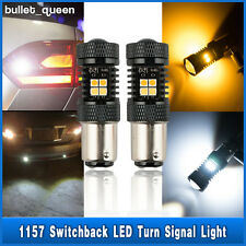 2x Switchback 1157 BAY15D 16 LED White Yellow Turn Signal Light Bulbs High Power