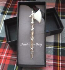 KILT PIN DRAMATIC BATTLE AXE DESIGN SOLID PEWTER MADE IN SCOTLAND HIGHLAND WEAR