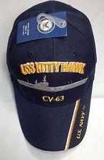 USS Kitty Hawk CV 63 CVA Ball Cap Embroidered US Navy Vet Aircraft Carrier Hat